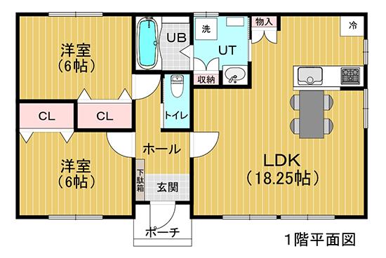 図:シンプルプライスプラン・flat(フラット) 平面図